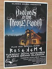 Wolves In The Throne Room + Rose Kemp - Glasgow nov.2010 tour concert gig poster