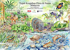 Malaysia 2016 Seven Wonders of Flora & Fauna ~ Stamp Sheet Mint