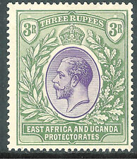 British East Africa 1921 violet/green 3r multi-script mint SG73