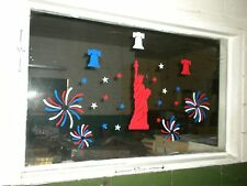 Lady Liberty 4th of July Sik-EES Statue of Liberty Quality Window Clings  NEW