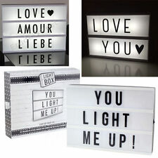 A4 LIGHT UP LETTER BOX CINEMATIC LED SIGN WEDDING PARTY CINEMA PLAQUE SHOP