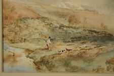 William Henry PIKE (1846-1908): Aquarell Landschaft mit Jäger und Hunden UK