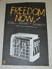 Political OSPAAAL Solidarity Cuban Poster.PRISONERS FREEDOM NOW.Civil Rights art