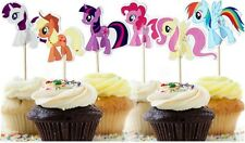 24 pcs Cupcake Cup Cake Decorating,Toppers PARTY DECORATION , My Little Pony