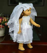 Handmade  white clothes outfit for 18inch American girl doll party b2