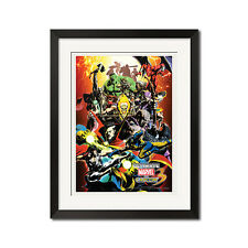 Ultimate Marvel vs Capcom 3 Super Heroes Street Fighter Comic Art Poster Print