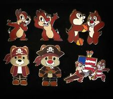AUTHENTIC Trader Lot Chip n & and Dale Cutie Pirate Starter Booster Disney Pin