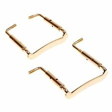 2pcs 4/4 Violin Chinrest Chin Rest Gold Clamp Violin Parts