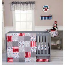Trend Lab 30450 Dr. Seuss Cat And Things 3 Piece Crib Bedding Set NEW