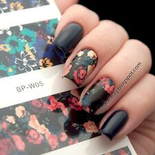 BORN PRETTY Nail Art Water Decals Transfer Stickers Flower Painting Tips W05