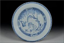 Chinese Kangxi Period Porcelain Plate w/ Deer Scene