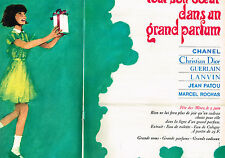 PUBLICITE ADVERTISING 104  1966   GRANDS PARFUMS ( 2 p) CHANEL DIOR GUERLAIN