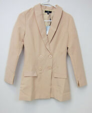 Missguided Double Breasted Tailored Blazer - Womens US 4 - Nude - NWT
