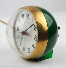 Mid Century Alarm Clock General Electric 7377 Green Ball Sphere Space Age