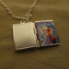 Disney's Frozen book charm LOCKET necklace
