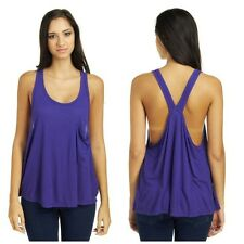NWT FREE PEOPLE WOMEN SzS HOT POCKET SLEEVELESS TANK TOP IN VIOLET