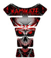 Kamikaze Red Skull  Motorcycle Gel Gas tank pad tankpad protector Decal