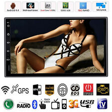 "Android 4.4 7"" Double 2 Din Car Stereo Radio GPS Navi MP5 Player Bluetooth WIFI"