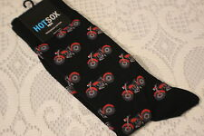 AUTHENTIC HOT SOX SOCKS ~ MOTORCYCLES ~ BLACK ~ TRENDY ~ MENS 10-13 SOCKS