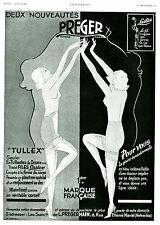 """Publicité Ancienne """" Gaines Preger """" Tullex 1ère Marque Française1934 ( P. 21 )"""