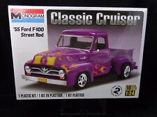Monogram 1955 Ford F-100 Street Rod Classic Cruiser Plastic Model Kit  NEW 1:24