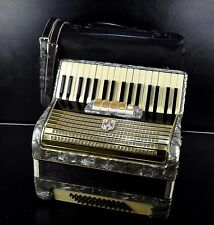 VINTAGE TOP GERMAN PIANO ACCORDION WELTMEISTER 48 bass,5 sw.@1001accordi0nsSTORE