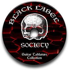 BLACK LABEL SOCIETY HEAVY METAL ROCK GITARRE ETIKETTEN TABLATURE LIED BUCH