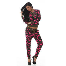 New Sexy Women Jacket Ladies Camouflage Tracksuit Trousers Size 8 10 12 Jogging
