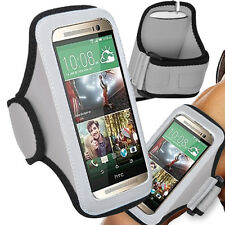 Sports Armband Jogging GYM Case Grey Workout Neoprene for HTC One X One M7 M8 M9