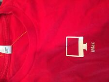 Apple store IMAC short sleeve red   t  shirt adult Large