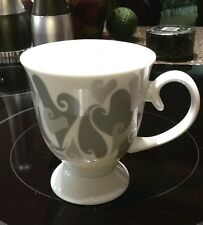 Mary Kay® LOVE AIMER Silver Gray Hearts Pedestal Coffee/Tea Mug Cup