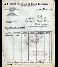 AVIGNON (84) USINE du PONT-des-DEUX-EAUX / LAMPES ELECTRIQUES , en 1934
