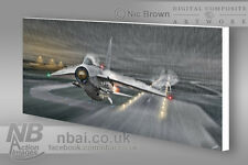 F.6 Lightning LTF 'Bolt of Lightning' CANVAS PRINT, Digital Artwork.