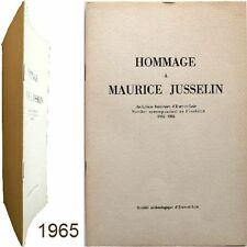 Hommage à Maurice Jusselin 1965 Marcel Couturier archiviste bibliographie