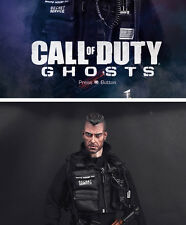 1/6 Male Head Soap John MacTavish Head Carving Call of Duty Ghost F 12'' Body