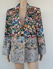MARINA RINALDI Flower Print Jacket PLUS size 31 MR 22 USA,26 GB,52 D,60 I, 56 F