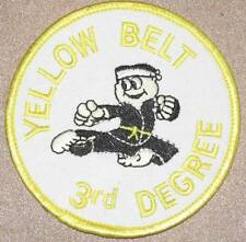 Yellow Belt 3rd Degree Patch - Martial Arts