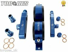 Twin Bosch 044 Fuel Pump Billet Aluminium Assembly KIT Without Pumps - BLUE