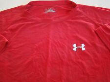 USMC US MARINE CORPS UNDER ARMOUR HEAT GEAR RED RED ATHLETIC PT S/S T-SHIRT LG