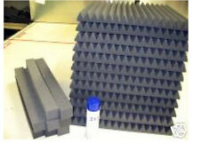 "12 Tiles 24""x24""x1"" Thick StudioFoam Acoustic Soundproofing Wedge/Pyramid Foam"