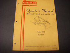 Farmhand Operators Manual,Instruction/Parts List,Model F21-B,Loader,1PD121-267