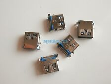 2X USB 3.0 Female Type-A 9 Pin SMT SMD Panel Mount DIP USB Connector 90° Legs