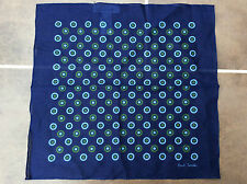PAUL SMITH NAVY BLUE POLKA DOT POCKET SQUARE/HANKIE MADE IN ITALY