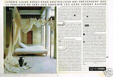 Publicité advertising 1990 (2 pages) Mobilier Meubles Lit Ligne Roset