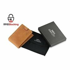 RFID Smart Bifold Imported Genuine Leather Slim Mens Wallet Money Clip Card Case