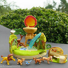 VINTAGE POLLY POCKET DISNEY LION KING Playset 100% completamente re leone --