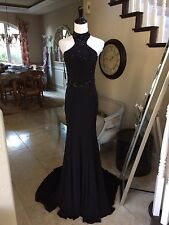 $440 NWT BLACK JVN BY JOVANI PROM/PAGEANT/FORMAL DRESS/GOWN #33144 SIZE 8