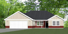 52x54 House -- PDF Floor Plan -- 1,735 sq ft -- Model 1C