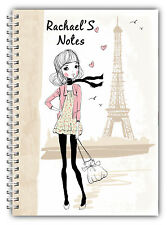 NEW! A5 NOTEBOOKS PERSONALISED/50 LINED PAGES/WIRE BOUND A5 NOTEBOOK/ 002