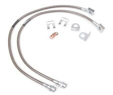 Jeep Wrangler TJ YJ & XJ 87-06 Stainless Steel FRONT Extended Brake Line Kit DOT